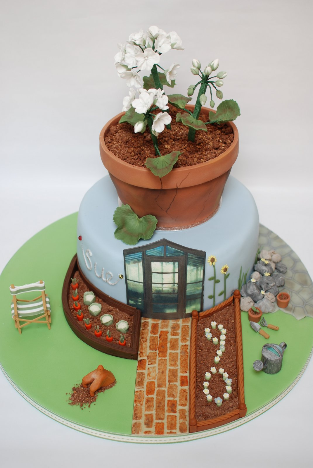 Vegetable Birthday Cake Images
